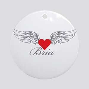 Angel Wings Bria Ornament (Round)