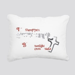 2-vamp prayer dark Rectangular Canvas Pillow