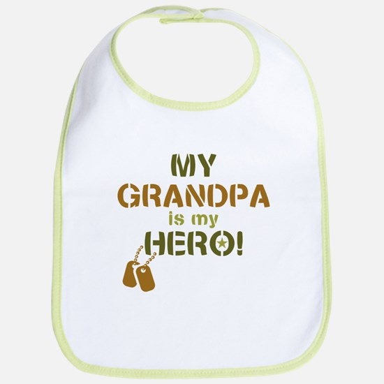 Dog Tag Hero Grandpa Bib