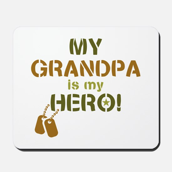 Dog Tag Hero Grandpa Mousepad
