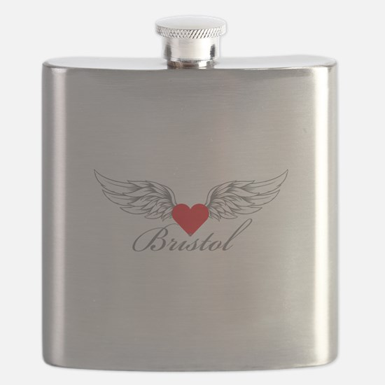 Angel Wings Bristol Flask