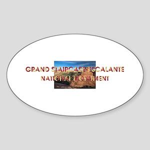 Grand Staircase-Escalante Sticker (Oval)