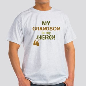 Dog Tag Hero Grandson Light T-Shirt