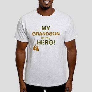 Dog Tag Hero Grandson Light T-Shirt