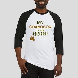 Dog Tag Hero Grandson Baseball Jersey