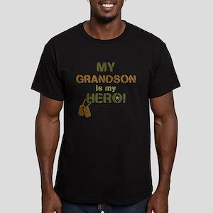 Dog Tag Hero Grandson Men's Fitted T-Shirt (dark)
