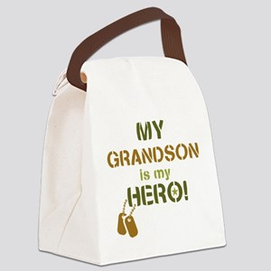 Dog Tag Hero Grandson Canvas Lunch Bag