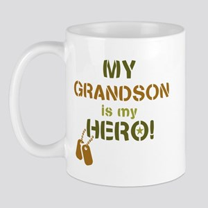Dog Tag Hero Grandson Mug