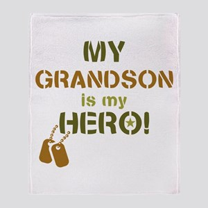Dog Tag Hero Grandson Throw Blanket