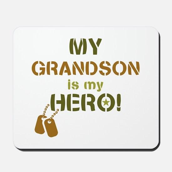 Dog Tag Hero Grandson Mousepad