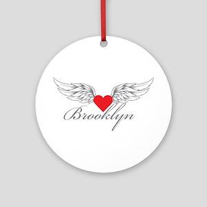 Angel Wings Brooklyn Ornament (Round)