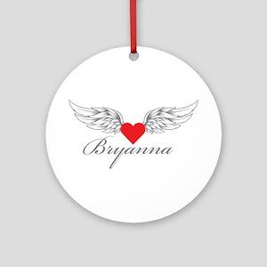 Angel Wings Bryanna Ornament (Round)