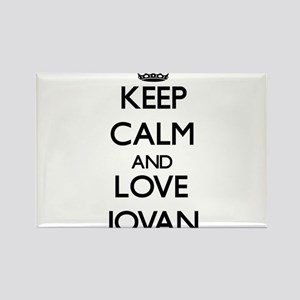 Keep Calm and Love Jovan Magnets