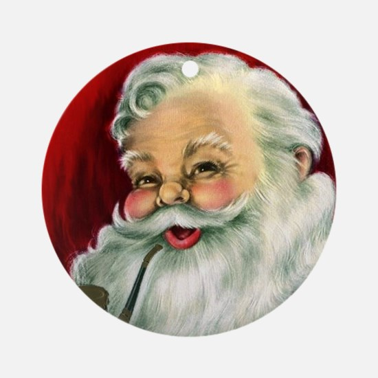 Vintage Santa Claus  Round Ornament