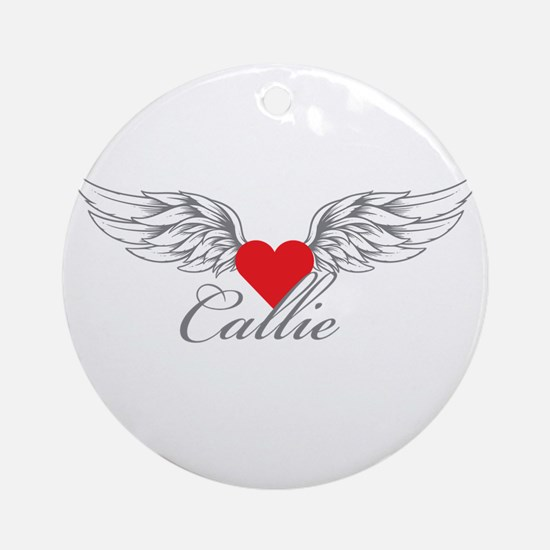 Angel Wings Callie Ornament (Round)
