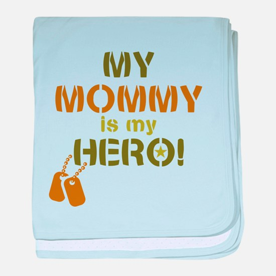 Dog Tag Hero Mommy baby blanket