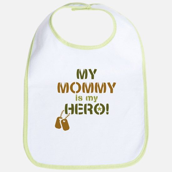 Dog Tag Hero Mommy Bib