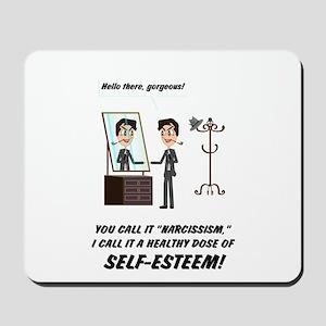 Narcissism or self-esteem Mousepad
