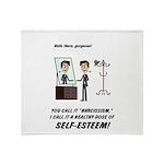 Narcissism or self-esteem Throw Blanket