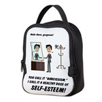 Narcissism or self-esteem Neoprene Lunch Bag