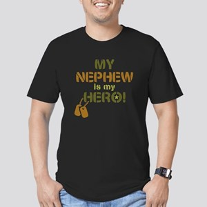 Dog Tag Hero Nephew Men's Fitted T-Shirt (dark)