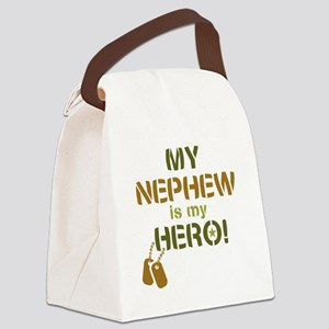 Dog Tag Hero Nephew Canvas Lunch Bag