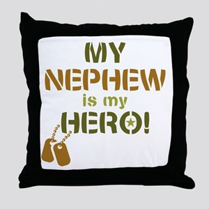 Dog Tag Hero Nephew Throw Pillow