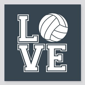 Love Volleyball, Charcoal Gray, square Square Car