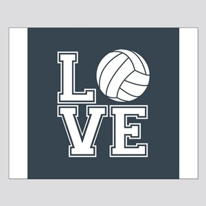 Love Volleyball, Charcoal Gray, square Posters