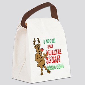 Sydney the Sweater Spirit Reindee Canvas Lunch Bag