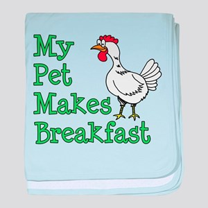 Pet Makes Breakfast baby blanket