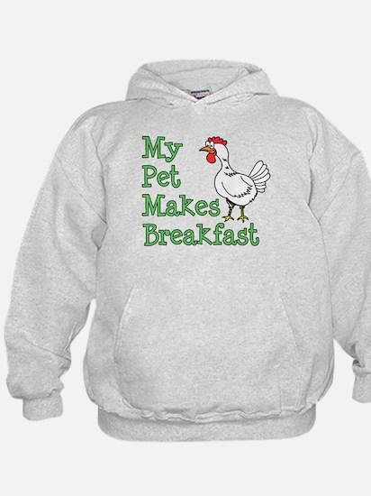 Pet Makes Breakfast Hoodie