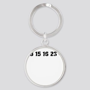 Lost Numbers Round Keychain