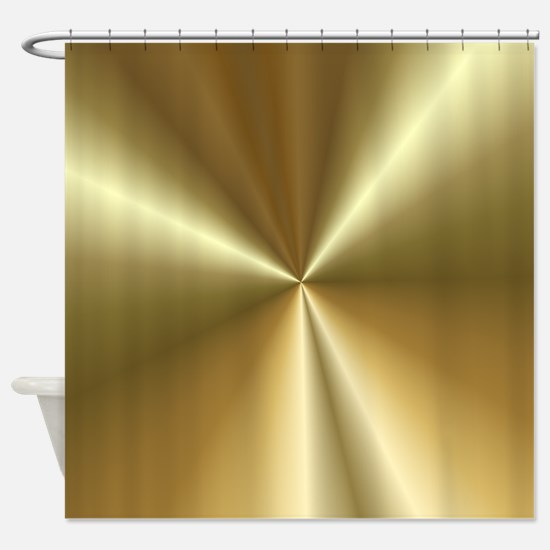 Radiant gold Shower Curtain