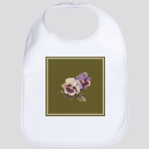 Purple Pansies by Catherine Klein Bib