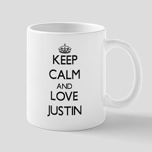 Keep Calm and Love Justin Mugs