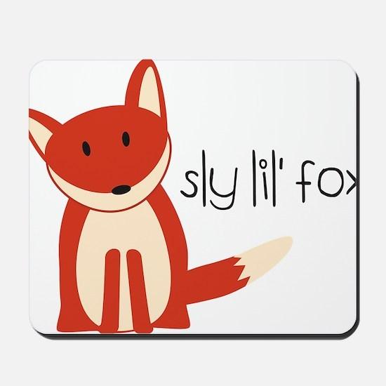 Sly Lil Fox Mousepad