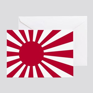 rising sun flag for colored shirts Greeting Card