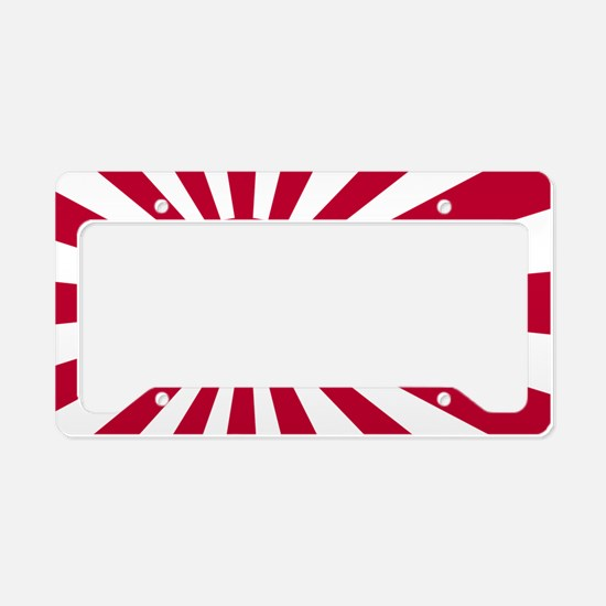 rising sun flag for colored s License Plate Holder