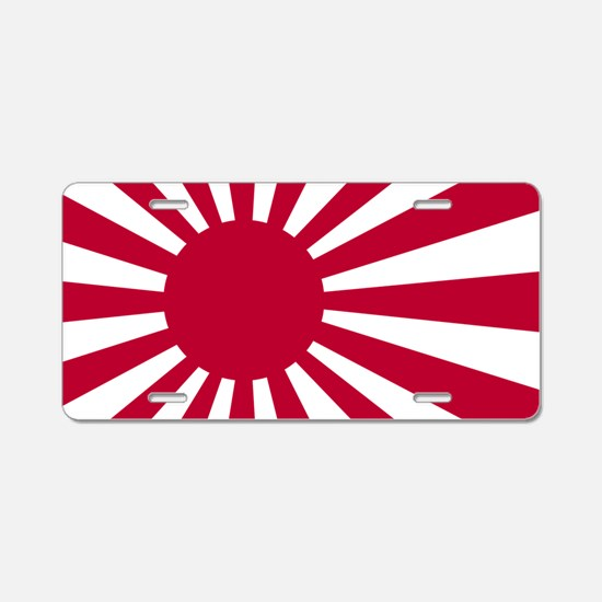 rising sun flag for colored Aluminum License Plate