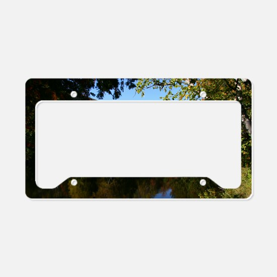 Whiteface P mini poster License Plate Holder