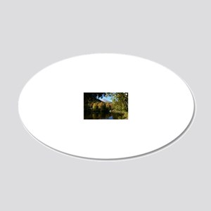 Whiteface P mini poster 20x12 Oval Wall Decal