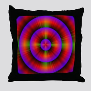 funky purple fuschia circles neon abs Throw Pillow