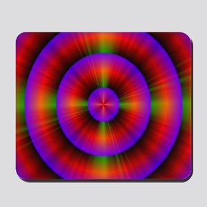 funky purple fuschia circles neon abstra Mousepad