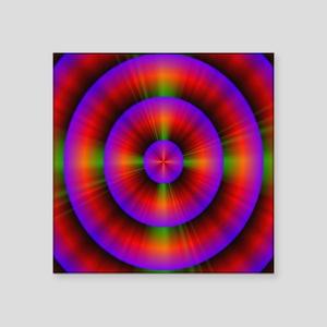 """funky purple fuschia circle Square Sticker 3"""" x 3"""""""