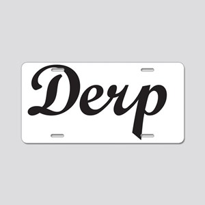 Derp-black Aluminum License Plate