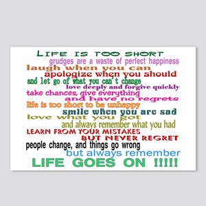 LIFE GOES ON Postcards (Package of 8)