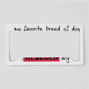 rescueddog License Plate Holder