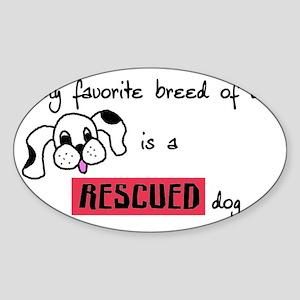 rescueddog Sticker (Oval)