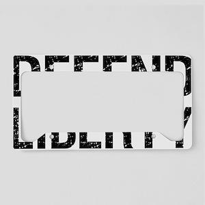 Defend-Liberty-(white-shirt) License Plate Holder